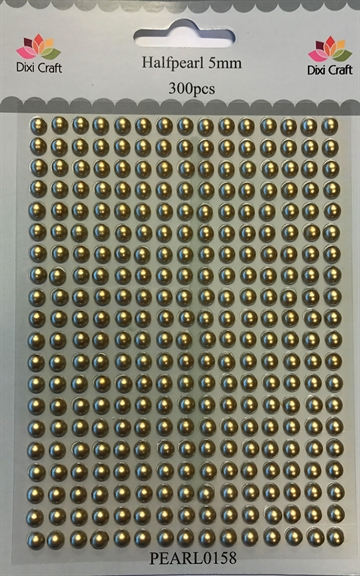 Dixi Craft - Halvperler - Mat guld 5mm